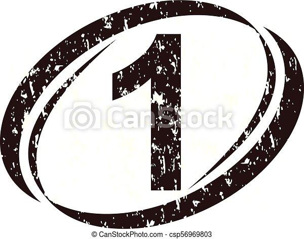 szorstki, liczba 1, logo - csp56969803