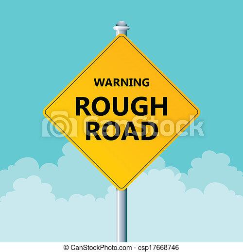 szorstki, ostrzeżenie, droga - csp17668746