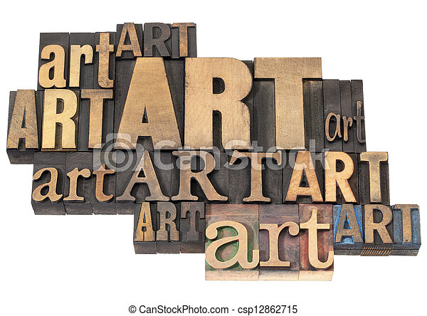 sztuka, abstrakcyjny, drewno, słowo, typ - csp12862715
