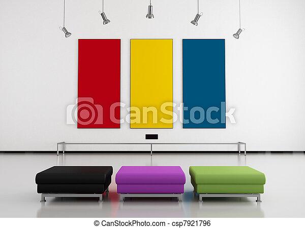 sztuka galeria, barwny - csp7921796