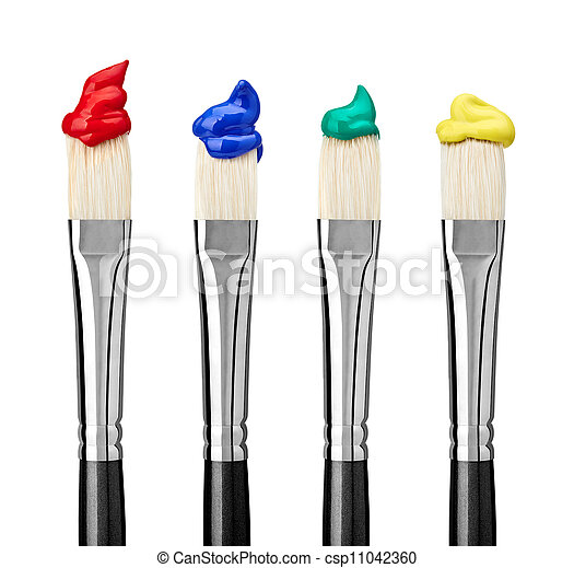 sztuka, kunszt, szczotka, malować - csp11042360