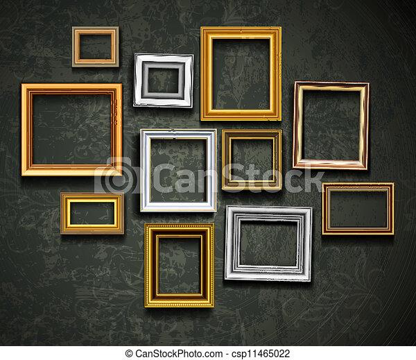 sztuka, ph, vector., obraz budowa, gallery., fotografia - csp11465022