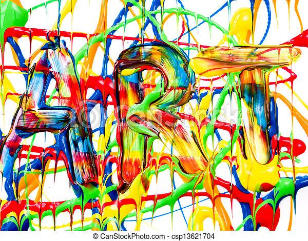 sztuka, tło - csp13621704