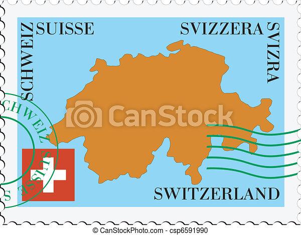 szwajcaria, poczta, to/from - csp6591990
