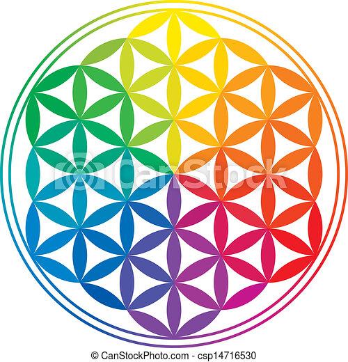 tęcza, życie, kwiat, kolor - csp14716530