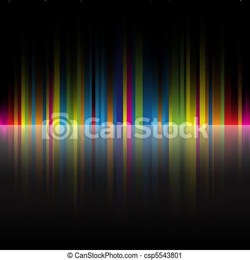 tęcza, abstrakcyjny, czarnoskóry, kolor, tło - csp5543801