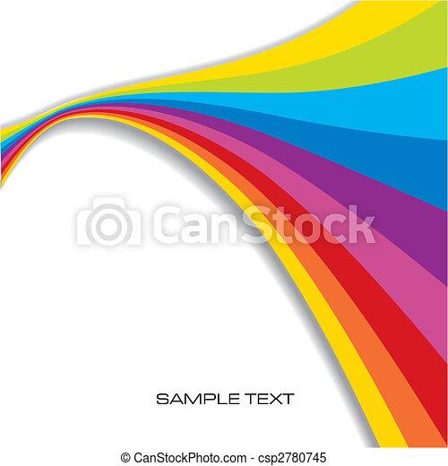 tęcza, abstrakcyjny, tło - csp2780745
