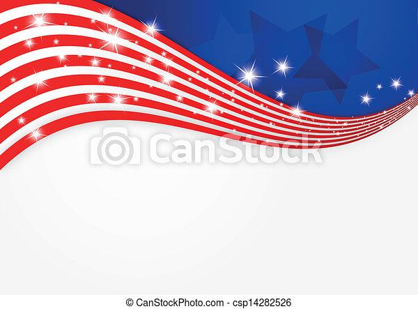 tło, amerykańska bandera - csp14282526