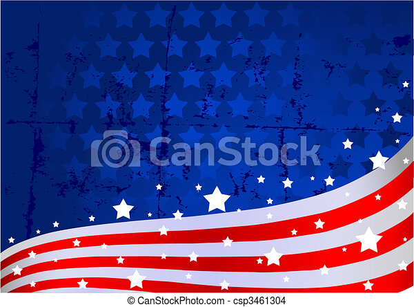 tło, amerykańska bandera - csp3461304
