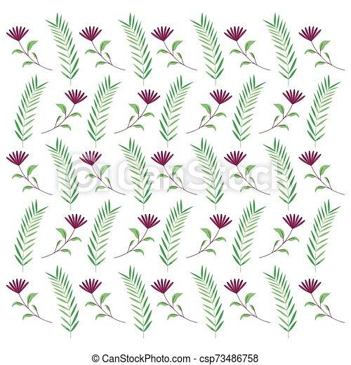 tło, odizolowany, projektować, kwiaty, ilustracja, wektor - csp73486758