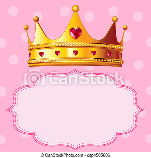 tło, różowy, korona, księżna - csp4505606