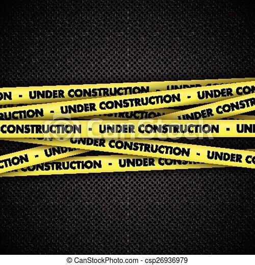 taśma, zbudowanie, metal, tło, pod - csp26936979