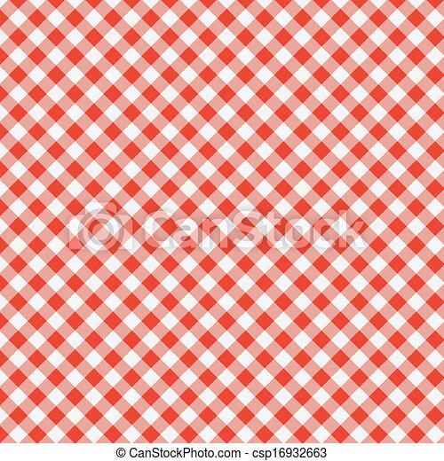 tablecloth, piknik, próbka, wektor - csp16932663