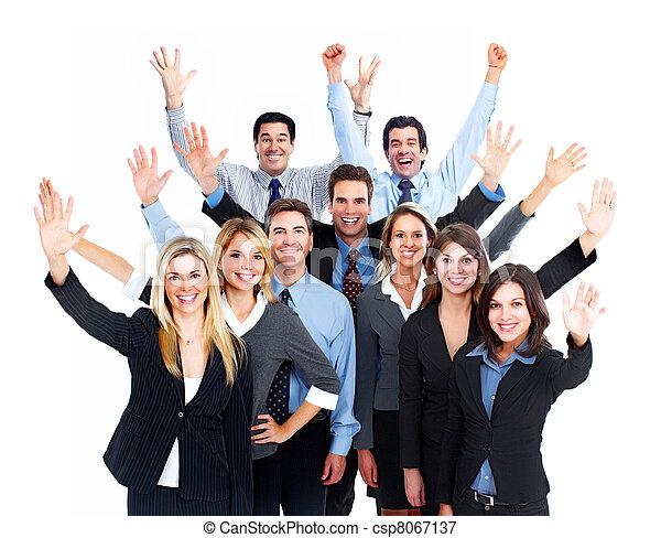 team., szczęśliwy, handlowy zaludniają - csp8067137