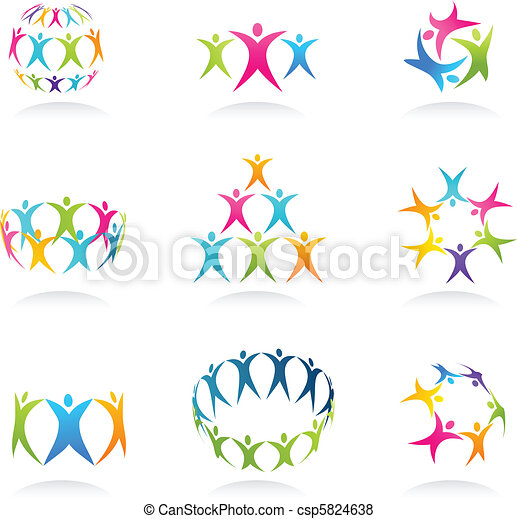 teamwork, ikony - csp5824638