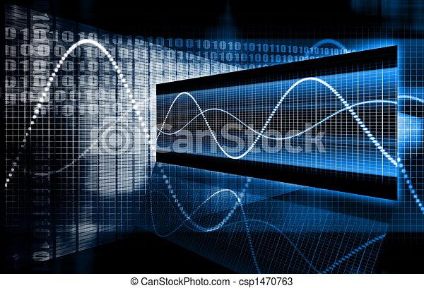 technologia, multimedia, dane - csp1470763