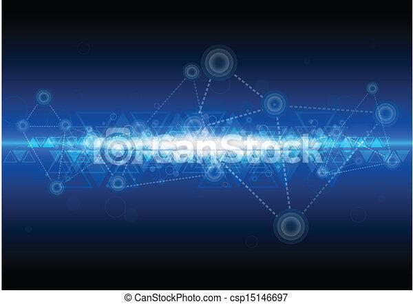 technologia, sieć, tło, cyfrowy - csp15146697