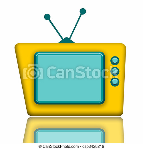 telewizja, teddy - csp3428219
