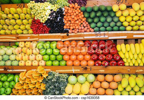 thai, owoc stoją - csp1639358