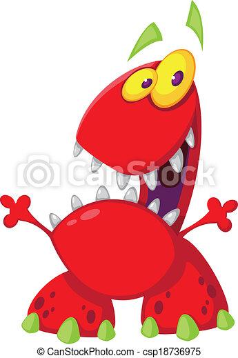 toothy, potwór - csp18736975