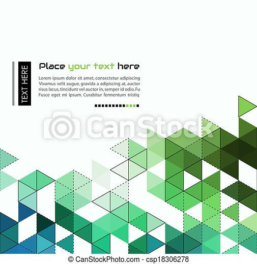 trójkąt, kolor, abstrakcyjny, modeluje, tło, technologia - csp18306278