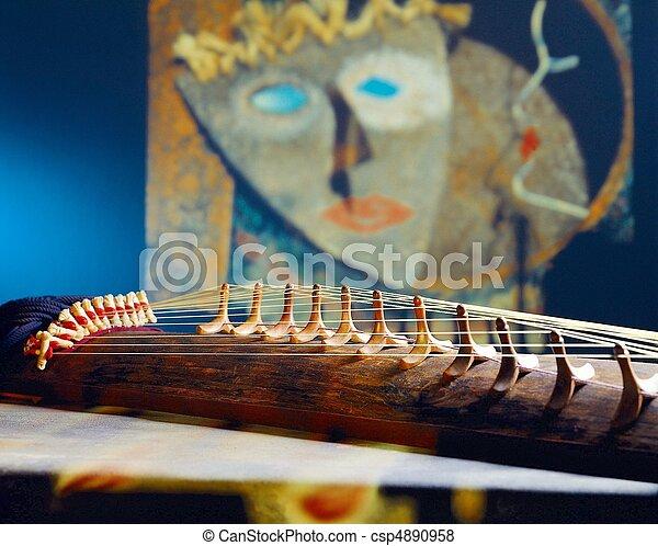 tradycyjny, instrument, koreański - csp4890958