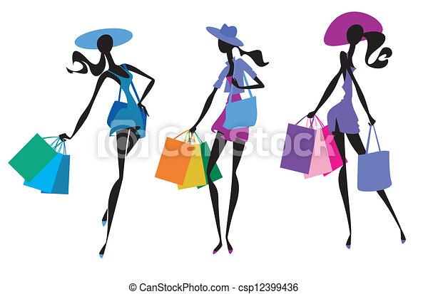 trzej kobiety - csp12399436