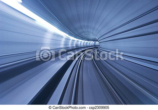 tunel, wysoka szybkość, metro - csp2309905