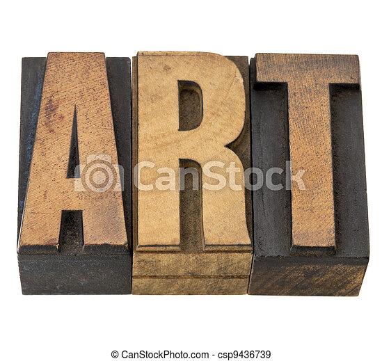 typ, sztuka, drewno, słowo - csp9436739