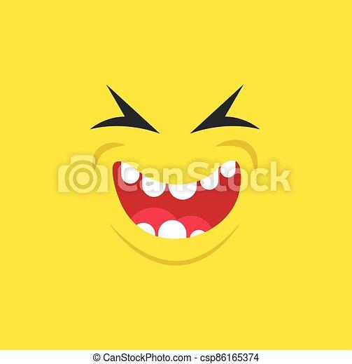 uśmiech, usta, potwór - csp86165374