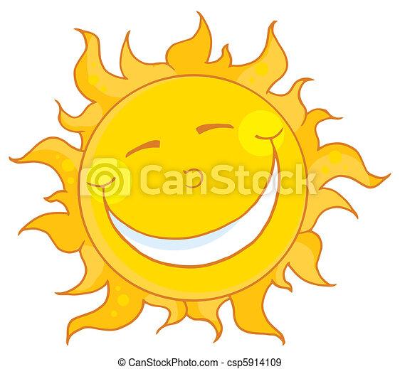 uśmiechnięte słońce - csp5914109