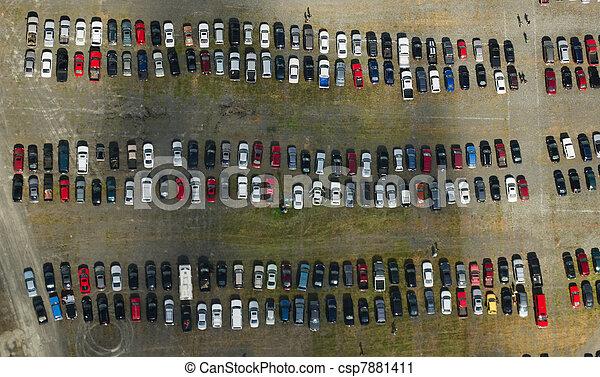wóz antenowy, los, parking - csp7881411