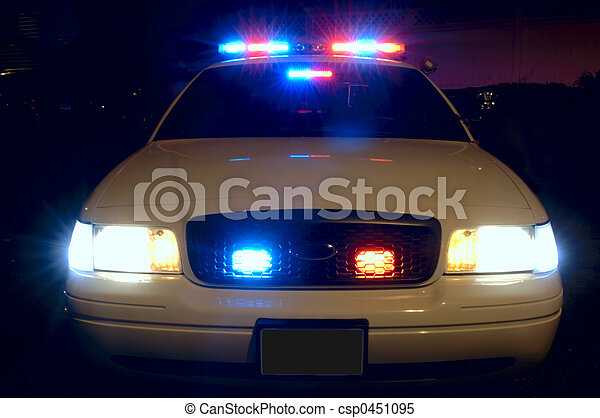 wóz, policja, światła - csp0451095