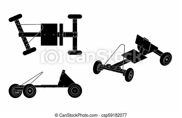 wóz, soapbox, czarnoskóry, napełniać - csp59182077