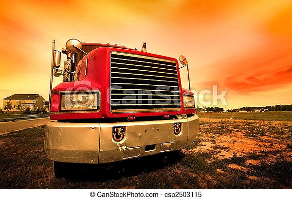 wózek, czerwony - csp2503115