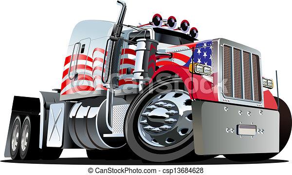 wózek, rysunek, pół - csp13684628