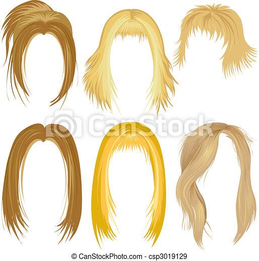 włos tytułujący, blond - csp3019129