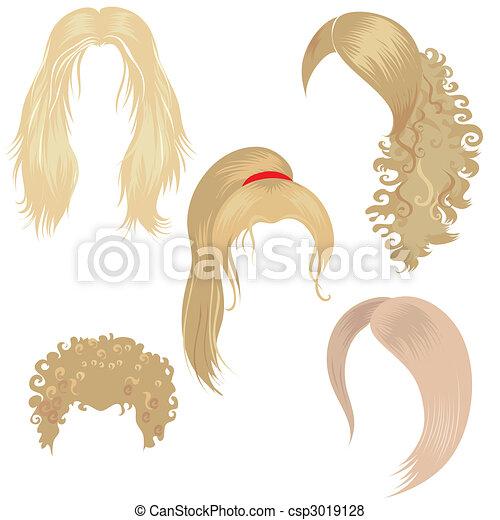włos tytułujący, blond - csp3019128