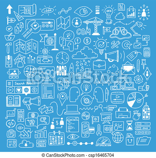 website, rozwój, elementy, handlowy, doodles - csp16465704