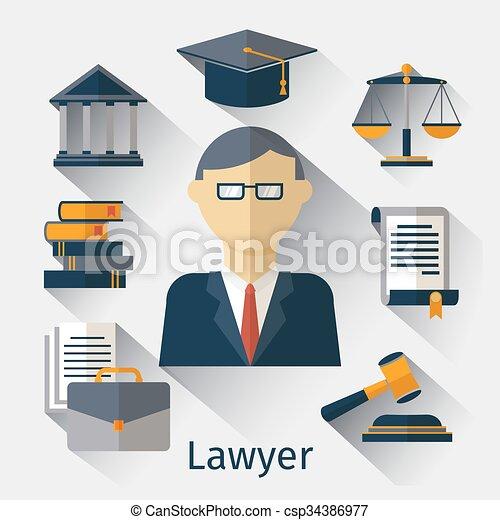 wektor, albo, adwokat, prawnik, tło, jurysta, pojęcie - csp34386977