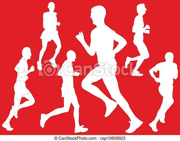 wektor, -, maraton, tło - csp10609923