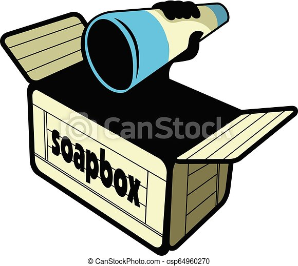 wektor, projektować, soapbox - csp64960270