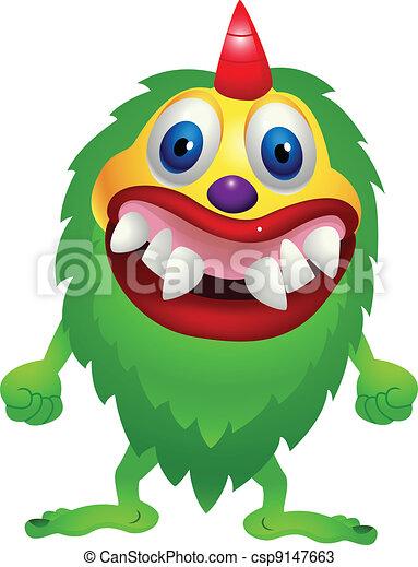 wektor, zielony potwór - csp9147663