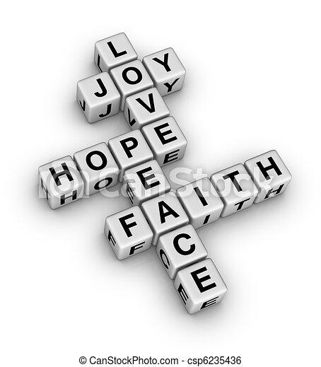 wiara, pokój, miłość, radość, nadzieja - csp6235436