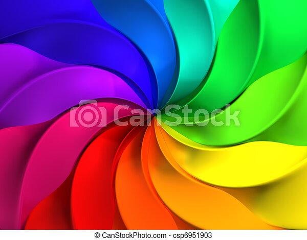 wiatrak, próbka, abstrakcyjny, barwny, tło - csp6951903