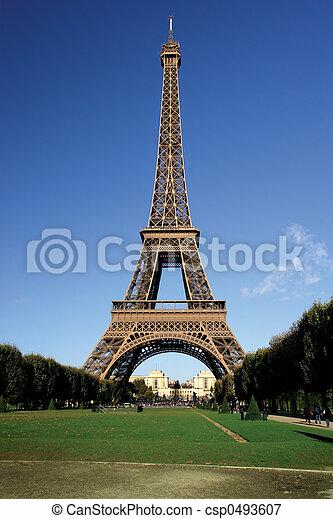 wieża, eiffel - csp0493607