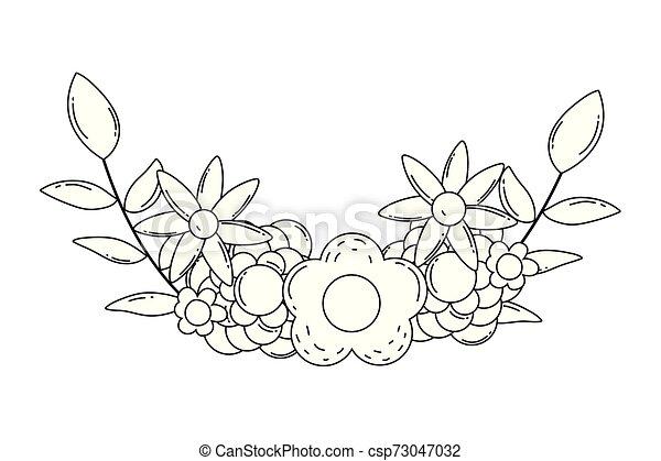 wieniec, odizolowany, ilustracja, wektor, projektować, kwiaty - csp73047032