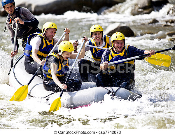 wioślarstwo, rzeka, grupa - csp7742878