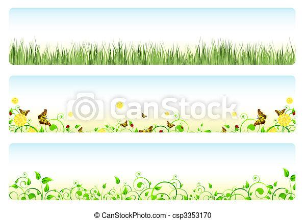 wiosna, chorągwie - csp3353170