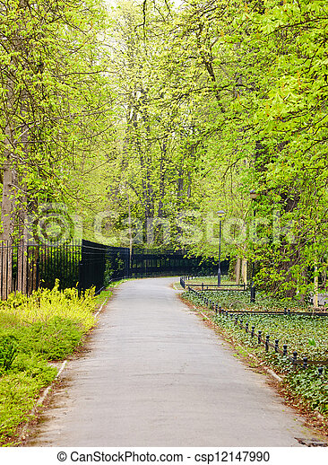 wiosna, park, czas - csp12147990